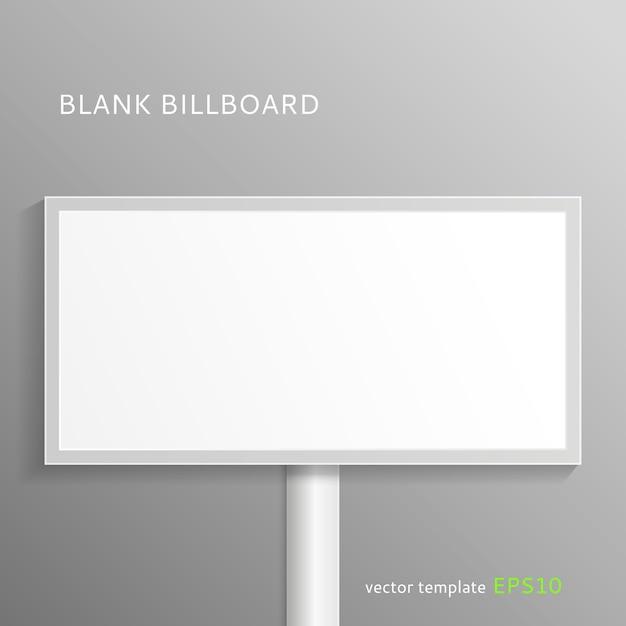 ブランクの看板のモックアップ Premiumベクター