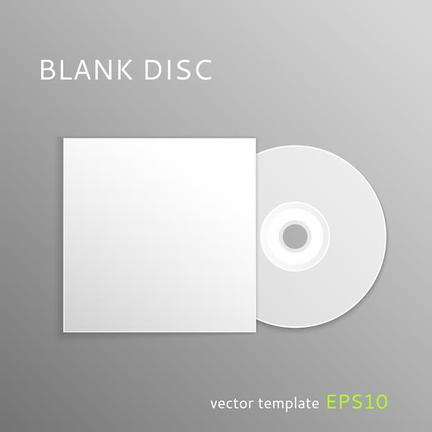 空のディスクテンプレート Premiumベクター