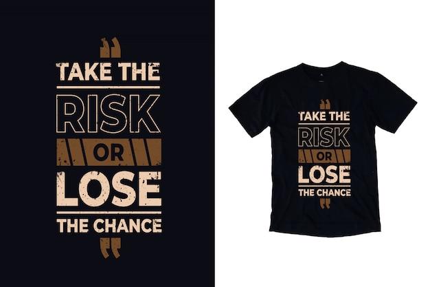 リスクを取るか、チャンスを逃す Premiumベクター