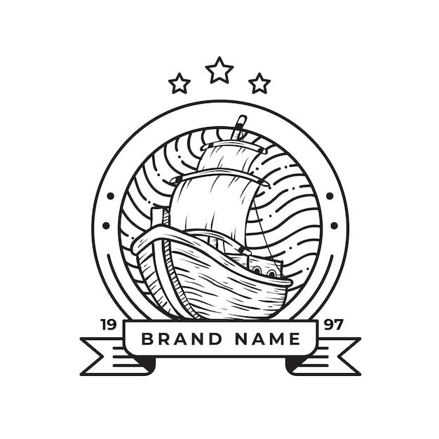 Винтаж ретро логотип для бизнеса и сообщества Premium векторы