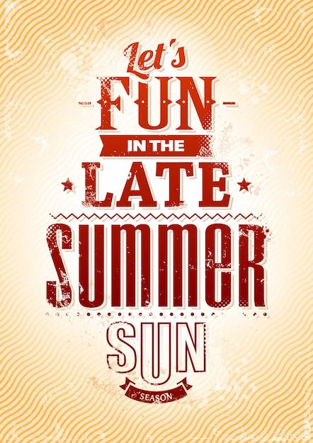 夏の楽しさ 無料ベクター