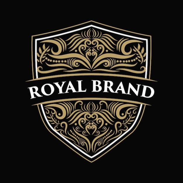 Старинный роскошный бордюр с логотипом в старинном старинном стиле, нарисованный от руки, гравировка в стиле ретро, подходящая для пива, винного магазина и ресторана ручной работы. Premium векторы