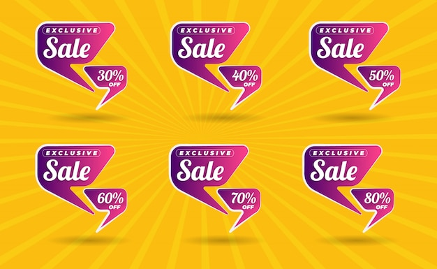 Распродажа бейджей и наклеек Premium векторы