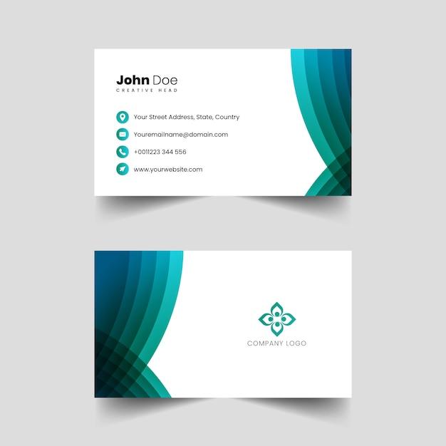 創造的なプロのビジネスカードベクトル Premiumベクター