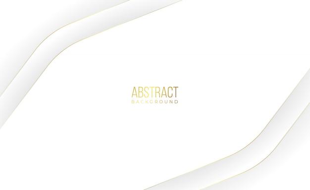 Современный белый золотой абстрактный фон Premium векторы