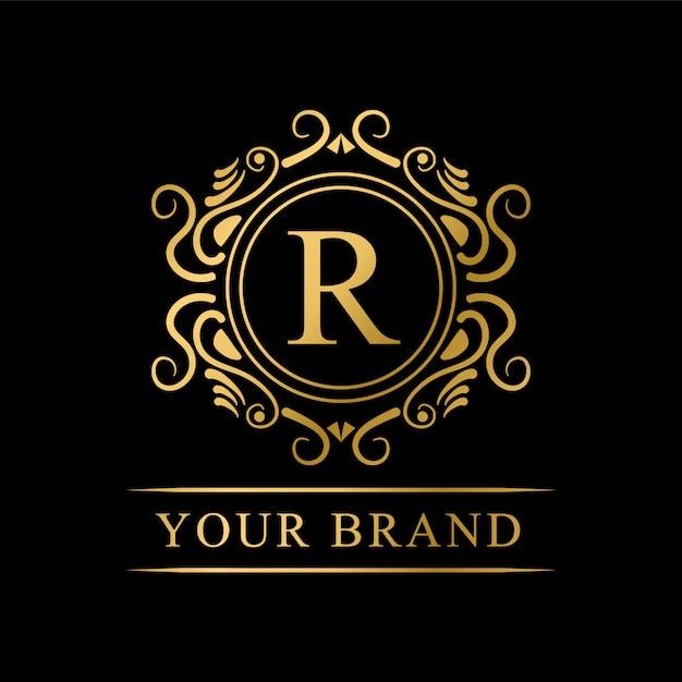 ブランドの高級ロゴ Premiumベクター
