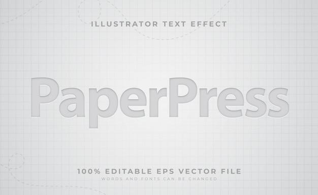 紙のテキスト効果 Premiumベクター