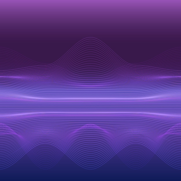 ダイナミックライン波抽象的な背景 Premiumベクター