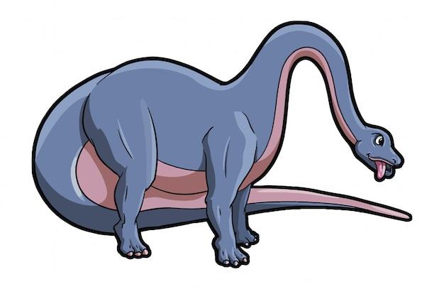Бронтозавр животное Premium векторы