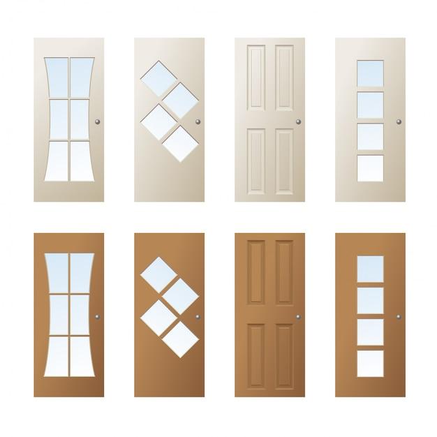 ドアデザイン Premiumベクター