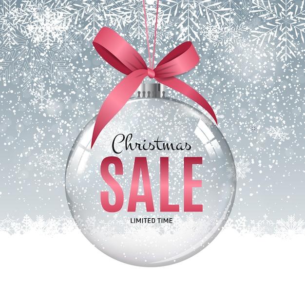クリスマスと新年の販売ギフト券、割引クーポンベクトル Premiumベクター