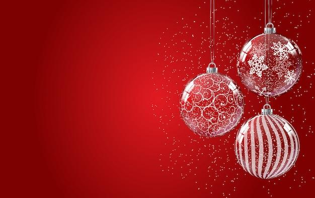 メリークリスマスと幸せな新年のポスター。 Premiumベクター