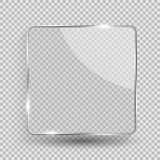 ガラス透明フレーム Premiumベクター