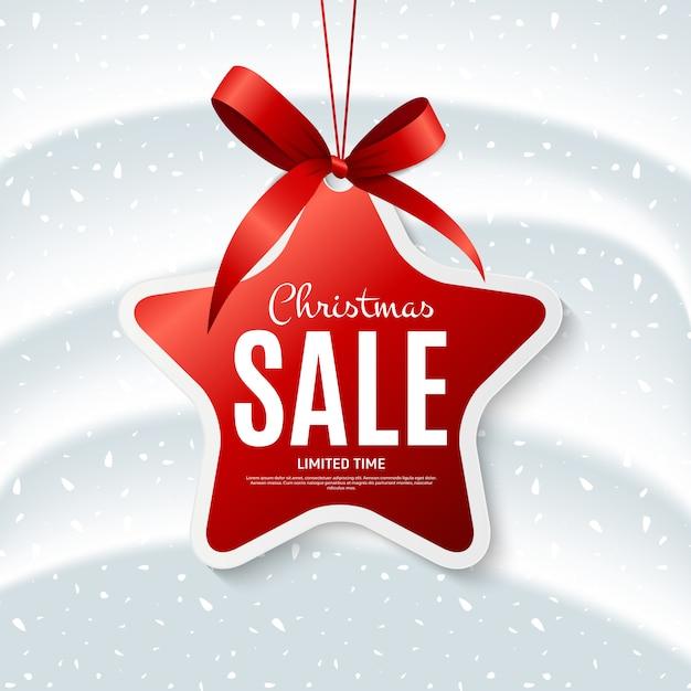 Продажа баннеров рождество шаблон с формой этикетки Premium векторы