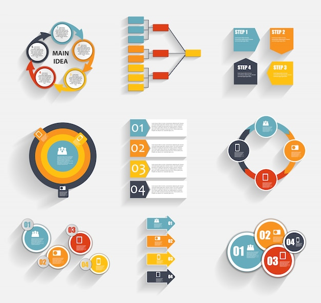 インフォグラフィックテンプレートのコレクション Premiumベクター