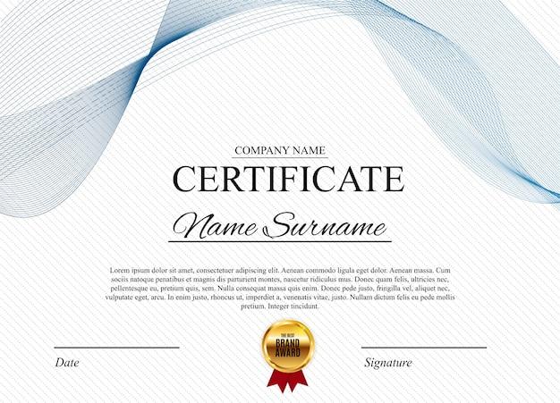 Шаблон сертификата Premium векторы