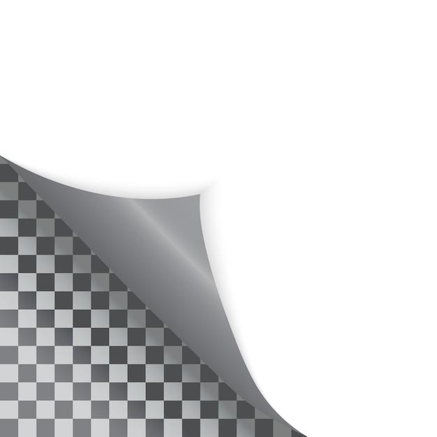 透明の自由な詰物のためのペーパー曲がった角 Premiumベクター