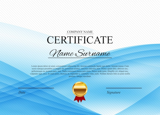 証明書賞の卒業証書のテンプレート Premiumベクター