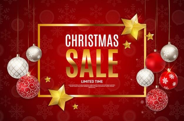 Рождество и новый год продажи фон, скидка купона шаблон. Premium векторы