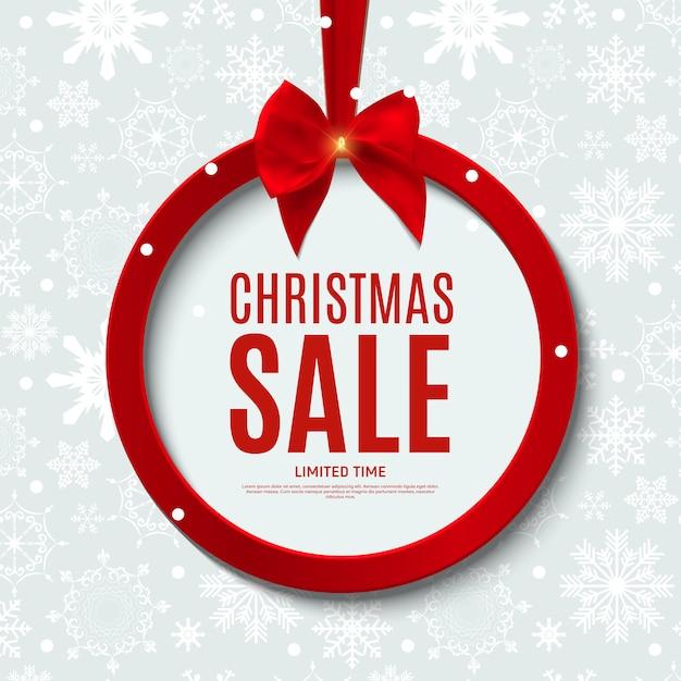 Подарочный купон на новогоднюю и рождественскую распродажу, шаблон купона на скидку Premium векторы