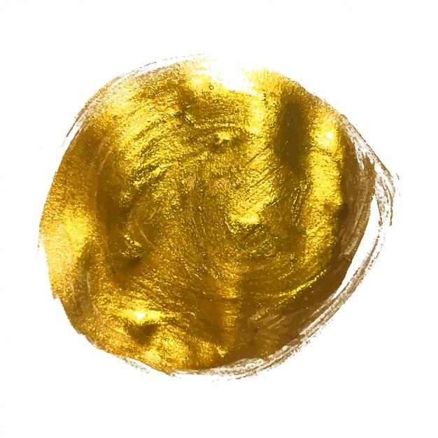 ゴールドペイントきらびやかな質感のアートイラスト Premiumベクター