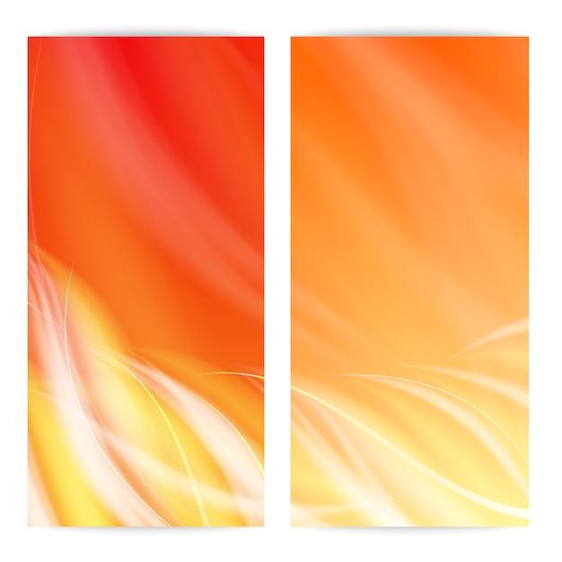 抽象的な炎カード。 無料ベクター
