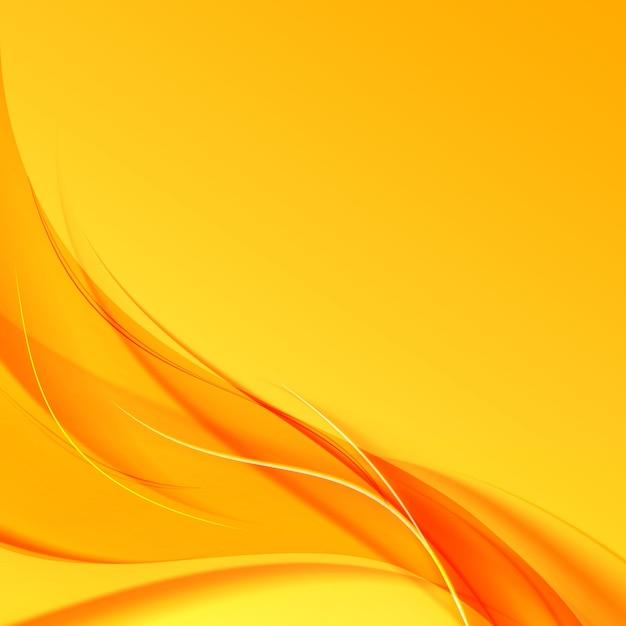 黄色の背景にオレンジ色の煙。 無料ベクター