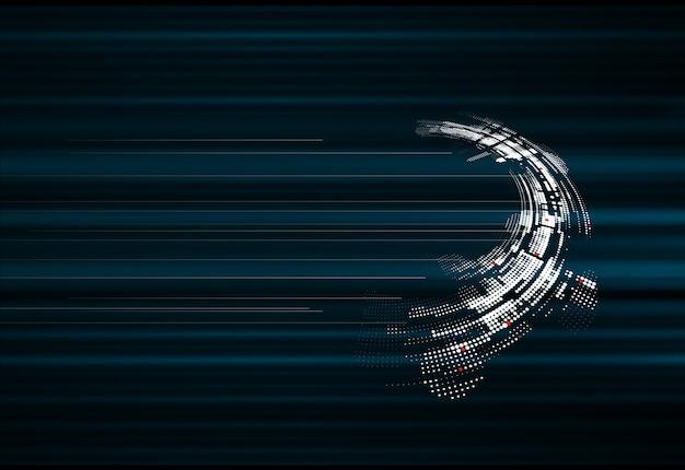 抽象的なスパーステクノロジーの動的フェードバックグラウンド Premiumベクター