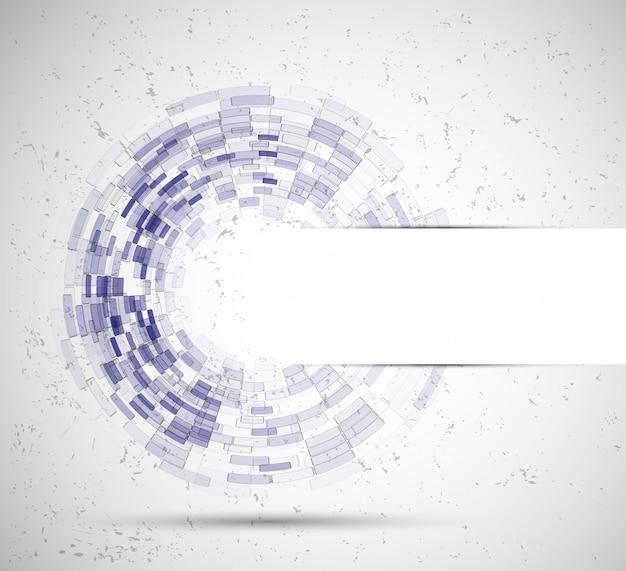 抽象的なサークル技術ビジネスの背景 Premiumベクター