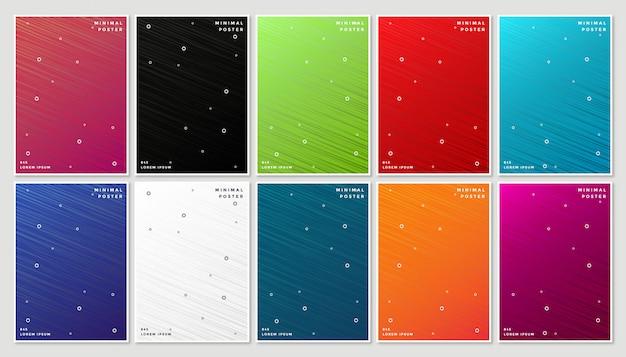 抽象的な幾何学的なラインと最小限のモダンなカバーデザイン Premiumベクター