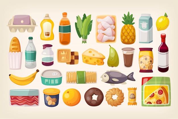 Набор обычных товаров и товаров повседневного спроса Premium векторы