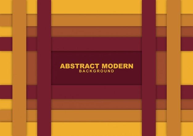 紙カット色とオレンジ色の抽象的な背景 Premiumベクター