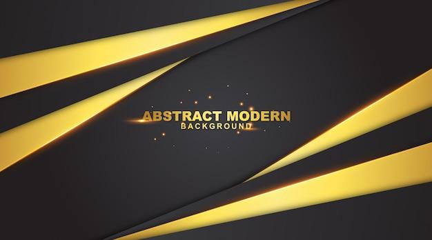 豪華なゴールドカラーの暗いの抽象的な背景 Premiumベクター
