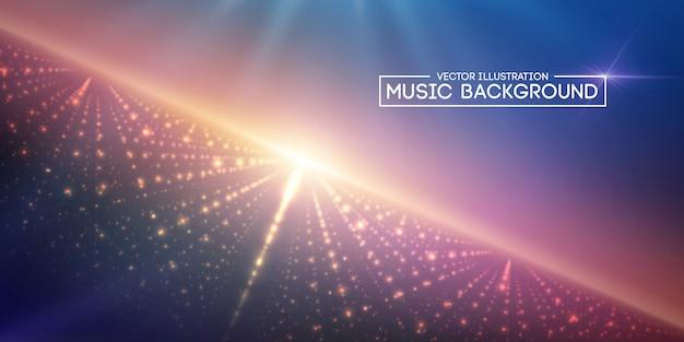 音楽の抽象的な背景の青。 Premiumベクター