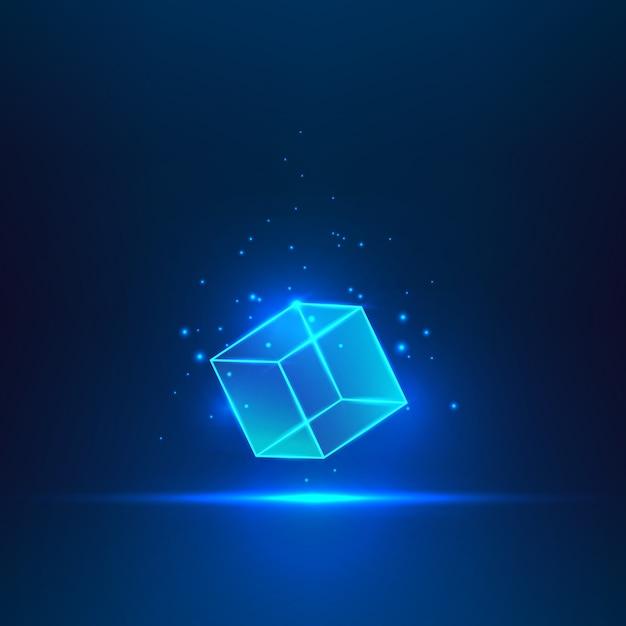 Стеклянный куб Premium векторы