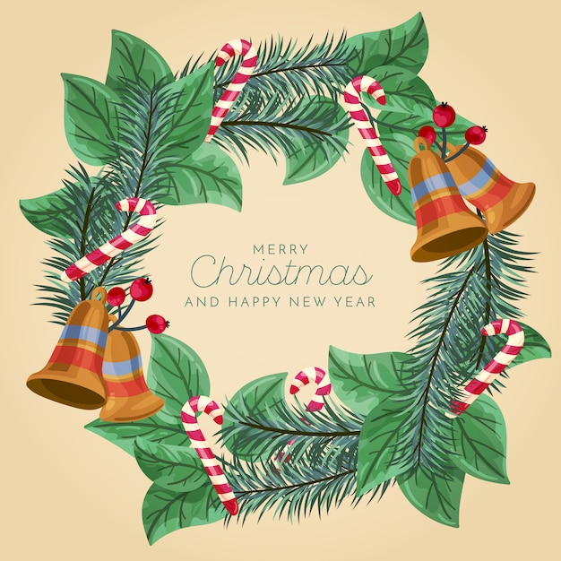 Рождественский венок Бесплатные векторы