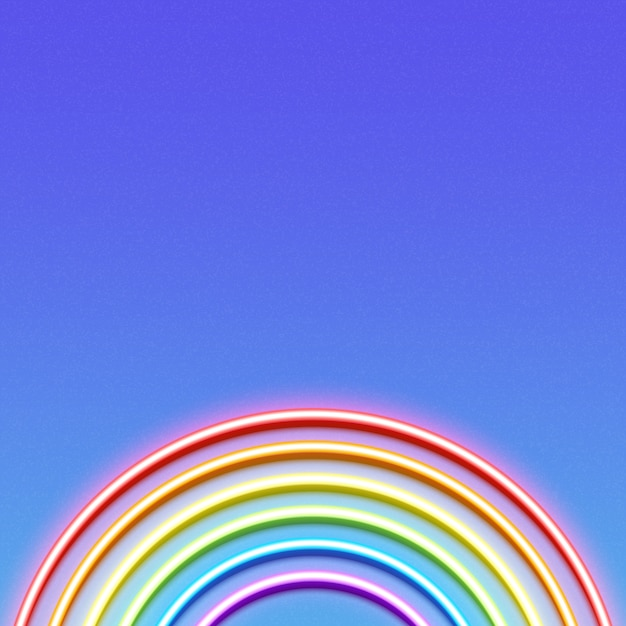 Неоновая светящаяся радуга Premium векторы