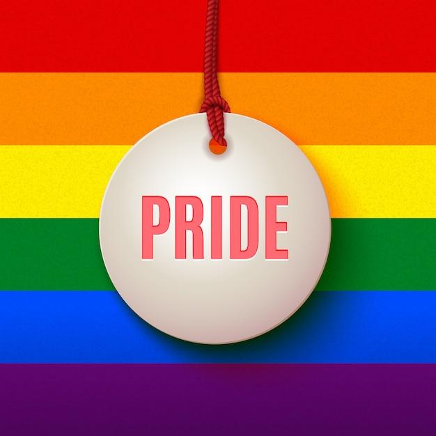 Лгбт знак любви и гордости Premium векторы