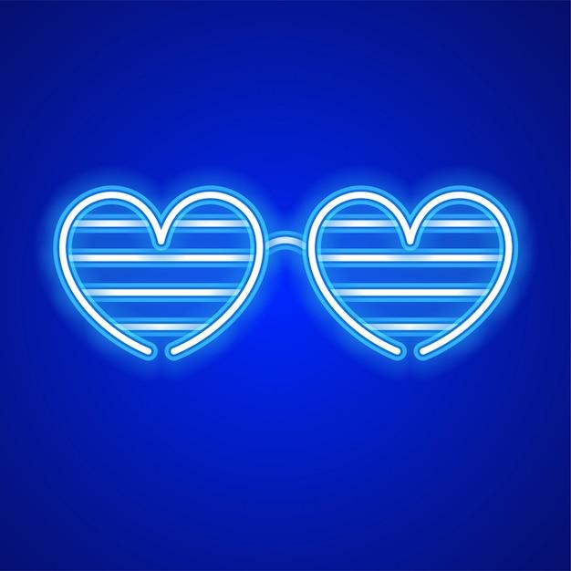Сердце дизайн очков. Premium векторы