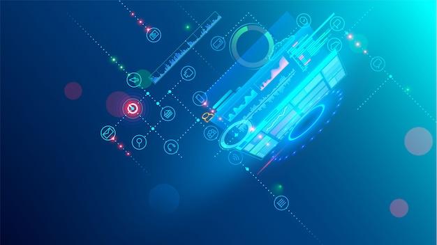 Концепция процесса кодирования разработки программного обеспечения. программирование, тестирование кроссплатформенного Premium векторы