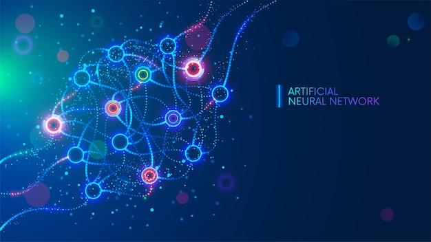 人工ニューラルネットワーク Premiumベクター