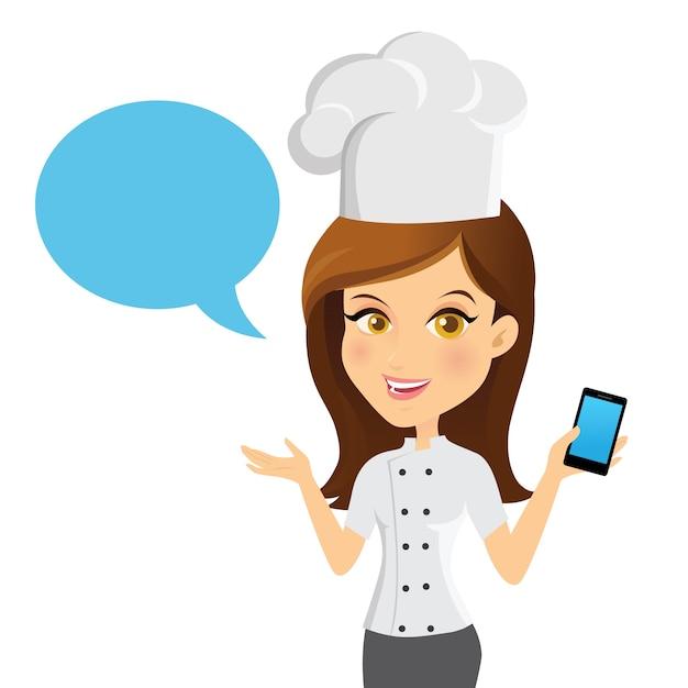 アバターガールお問い合わせ情報サービスベクトルイラスト Premiumベクター