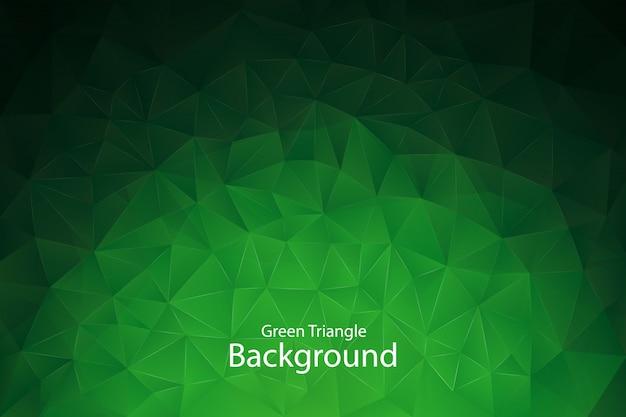 Зеленый геометрический треугольник фон Premium векторы