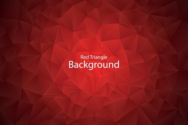 赤い幾何学的な三角形の背景 Premiumベクター