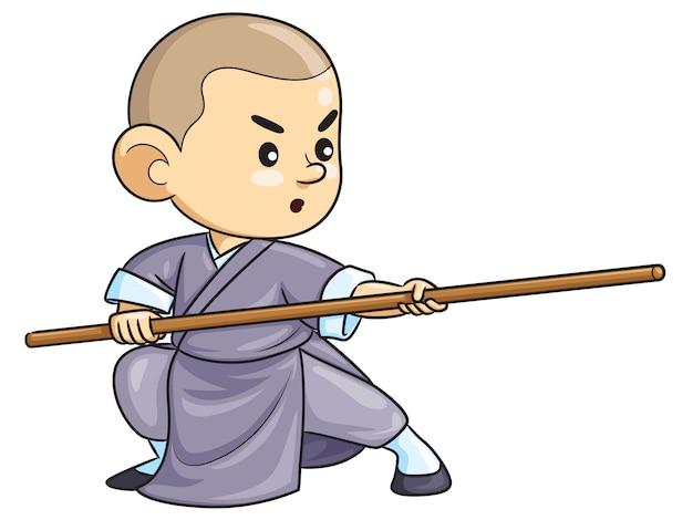Кунг-фу детский мультфильм Premium векторы