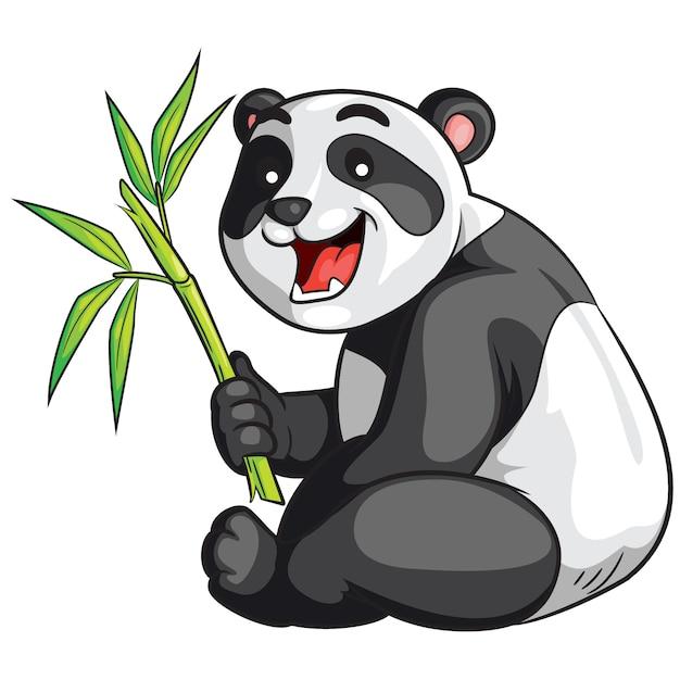 Мультфильм панда Premium векторы