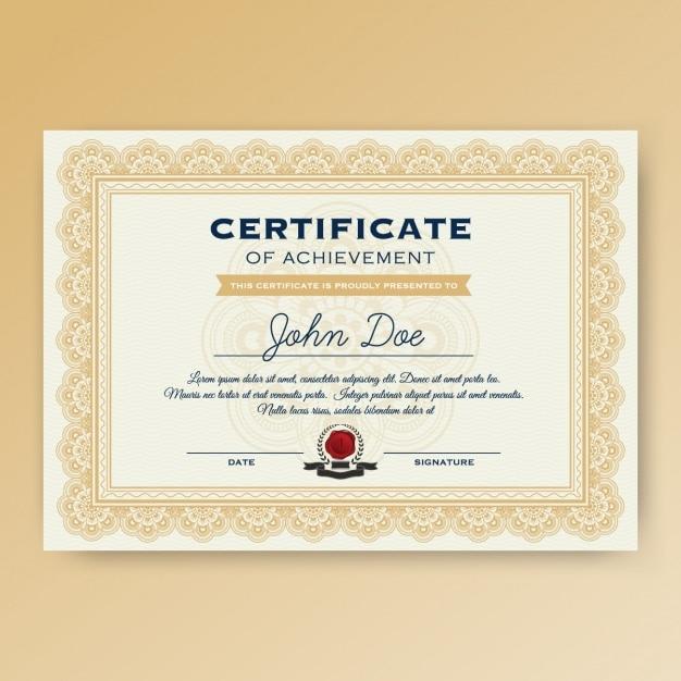 Дизайн шаблона сертификата Бесплатные векторы