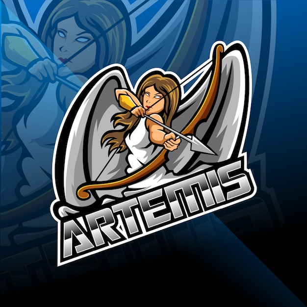 Артемис киберспорт дизайн логотипа Premium векторы