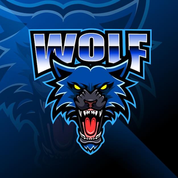 Логотип талисмана головы волка Premium векторы