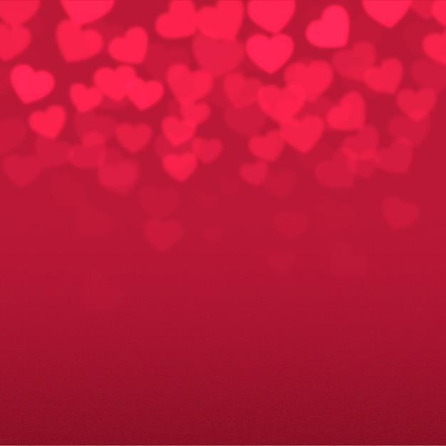 ぼやけているバレンタインデーの背景 無料ベクター